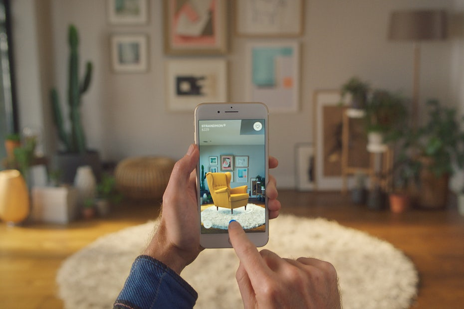 AR app design trend example: ikea AR app for furniture