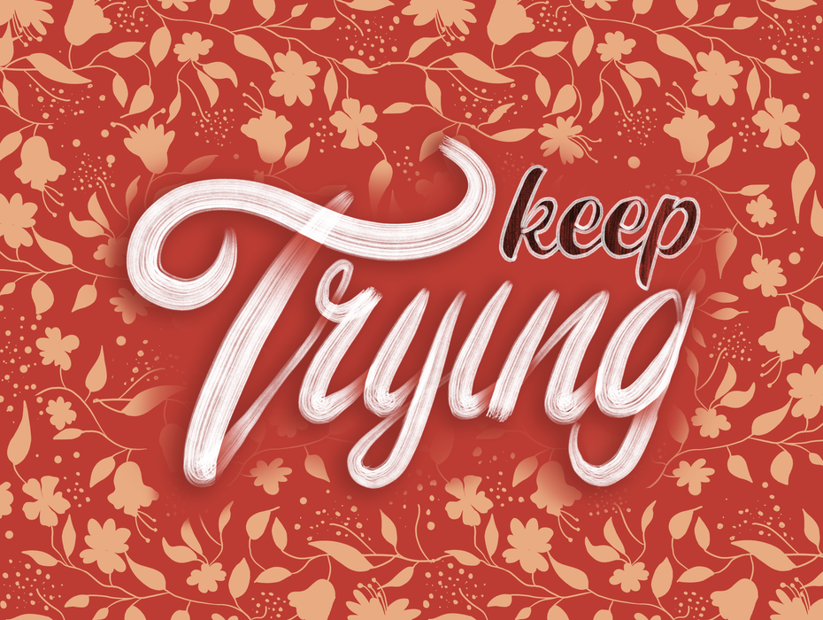 Dynamic hand-lettering composition