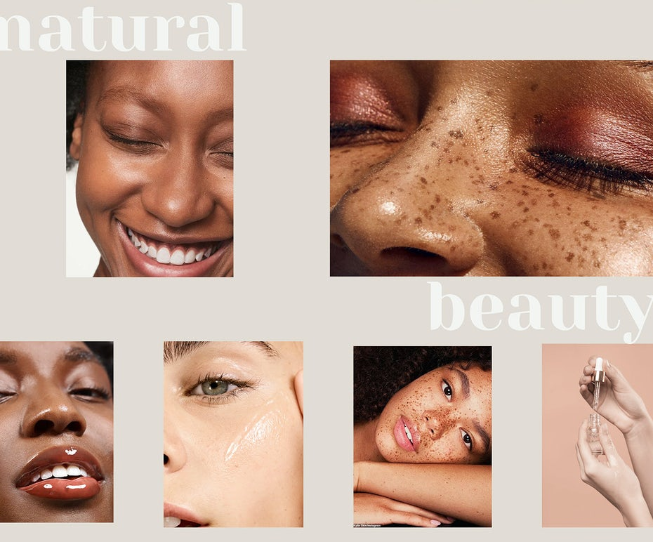 beauty website design mit breiter hauttonpalette