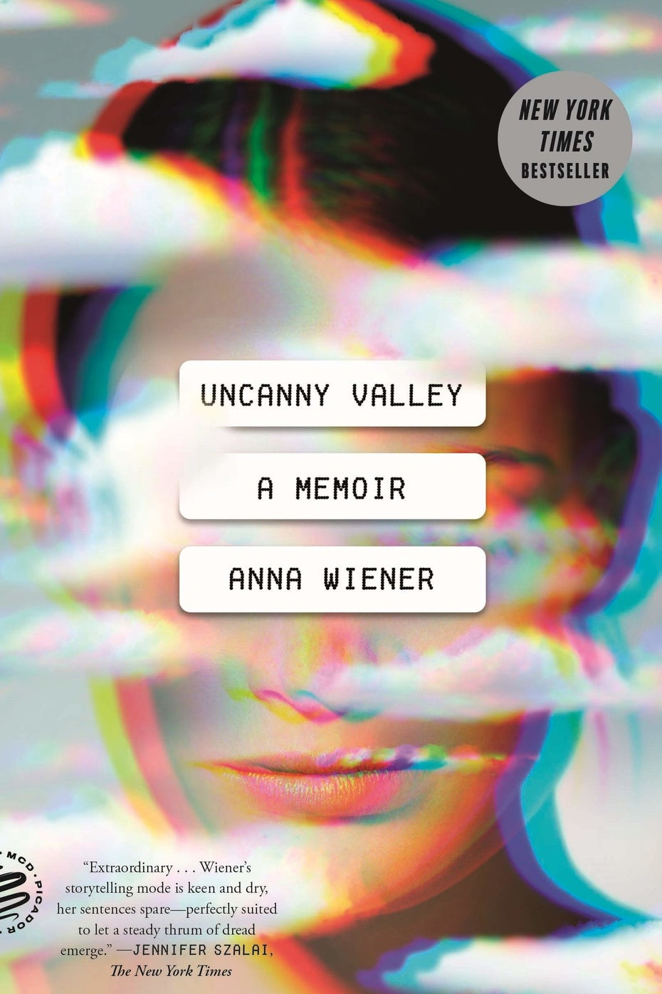 blurry book cover trends example: book cover showing a woman's face in the clouds, partially obscured by text