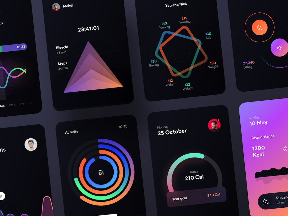 app design trend for data visualization