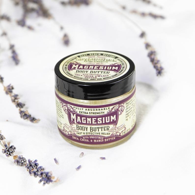 skincare product canister with a vintage-style label