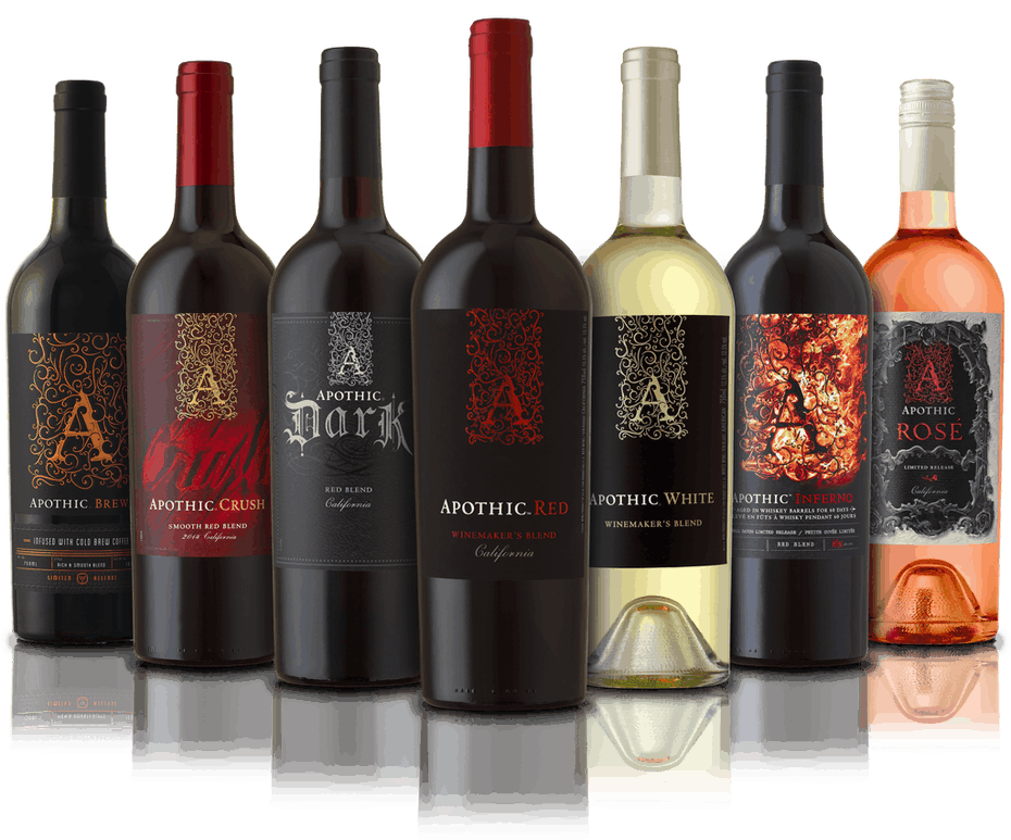 collection of Apothic Wines
