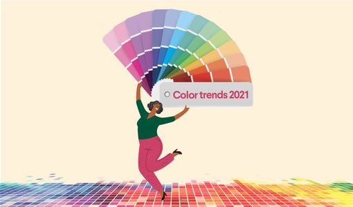 8 brillante Farbtrends für 2021