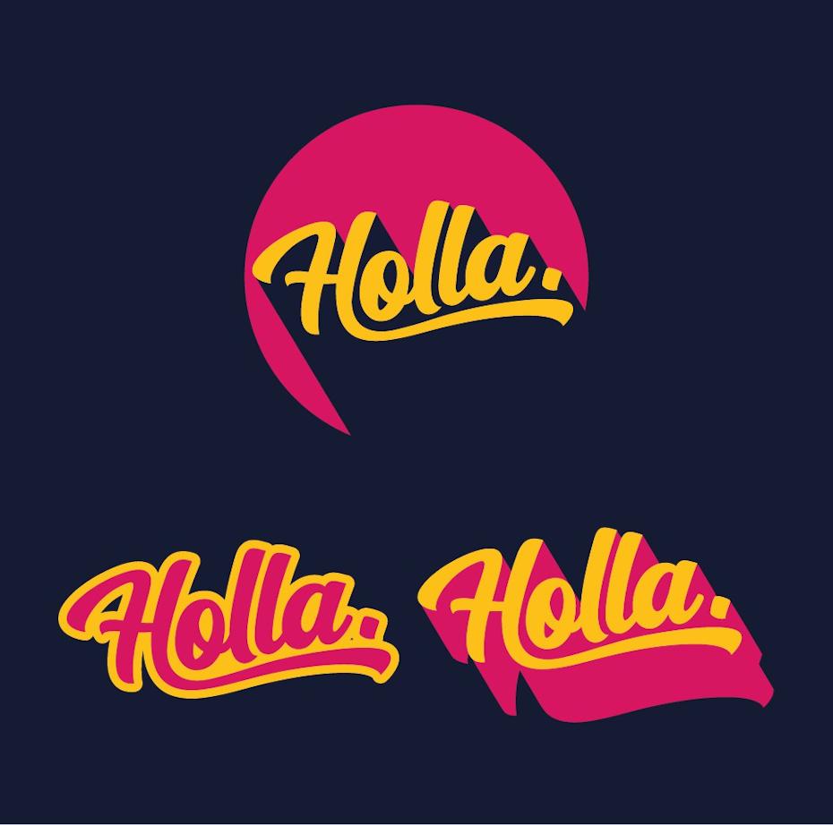 Logo design wordmark with long solid shadow