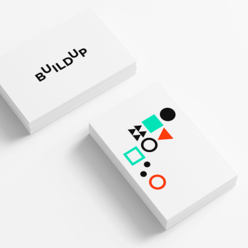 logo design trends example: Colorful abstract simple shapes logo design