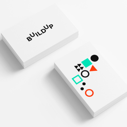 Colorful abstract simple shapes logo design