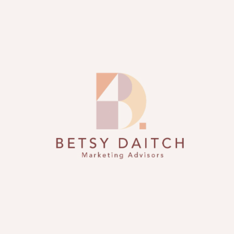 branding design in shades of pink, maroon and peach
