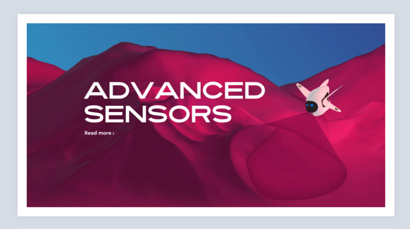 Banner ad design with 3D abstract colors