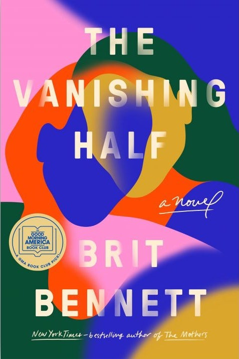 book cover showing a brightly colored, colorblock design