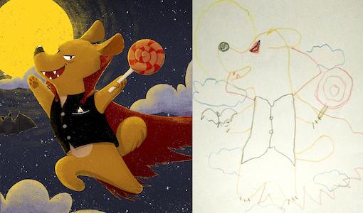 Les montres du confinement: dessins d'enfants réimaginés par des adultes