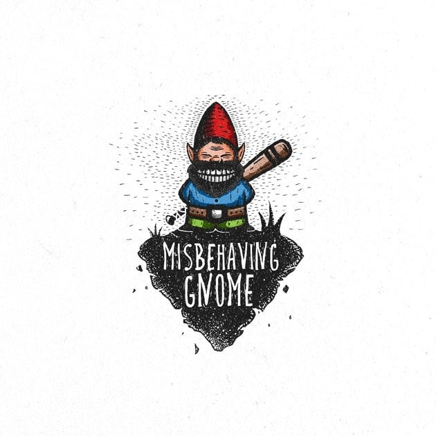logo design trends example: mean looking gnome logo