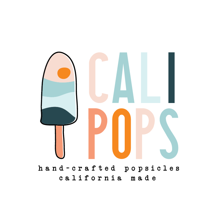 logo design trends example: Blue pink popsicle logo design