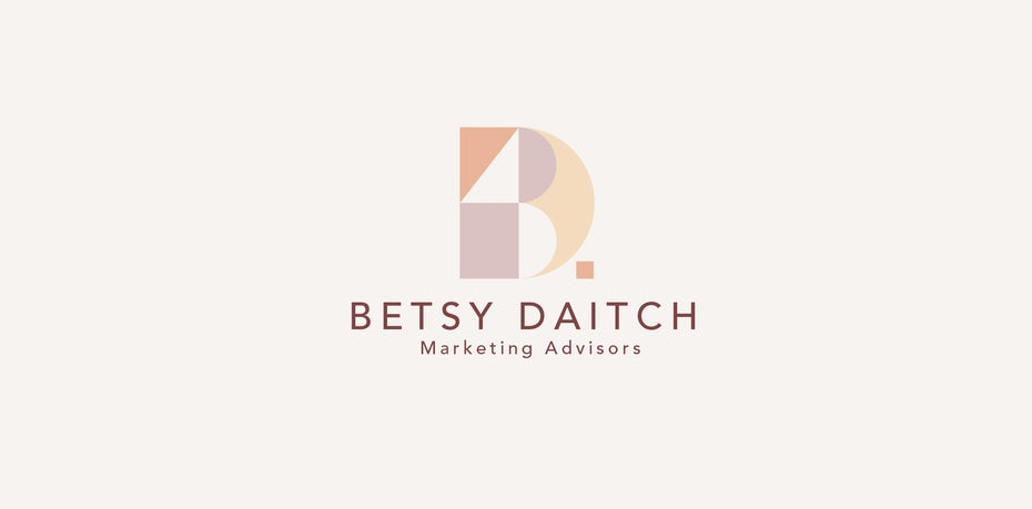 soft peach and orange logo design