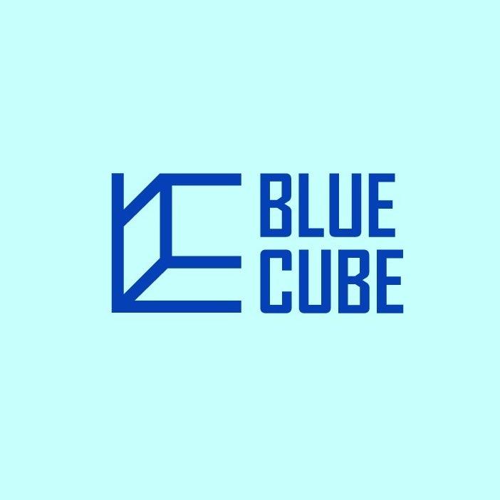 Minimalist perspective cube logo design