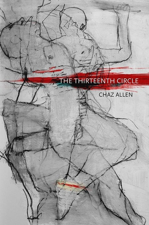 white book cover with black line image of two men and text highlighted in red