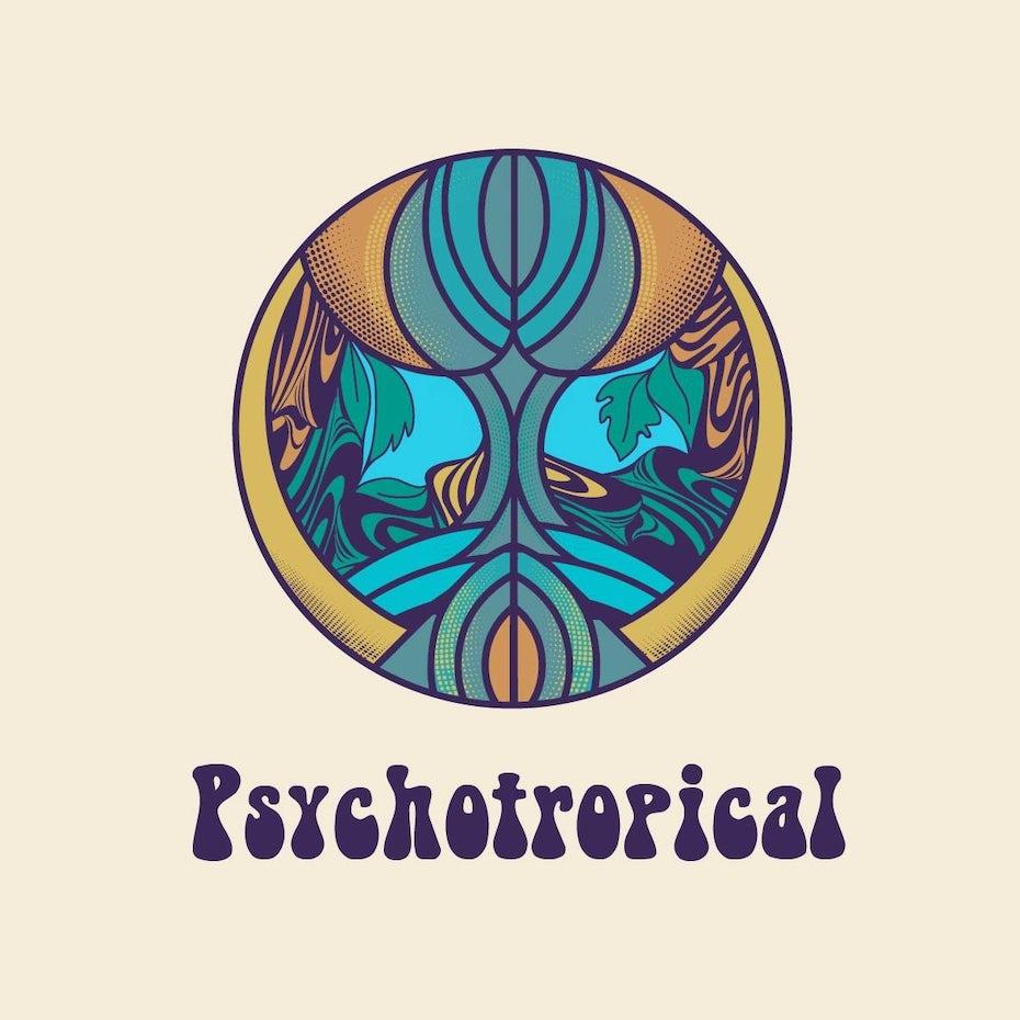 psychedelic logo design