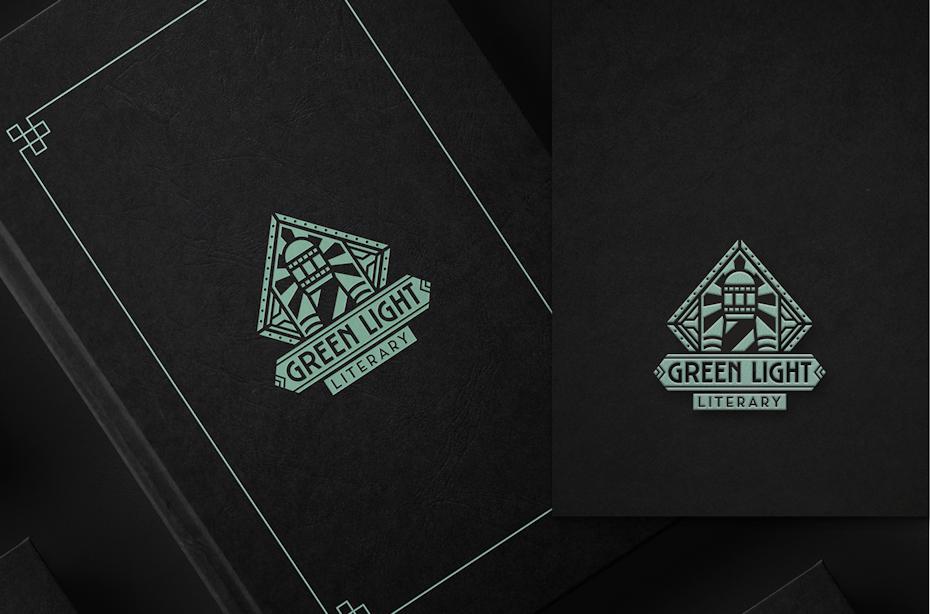La symétrie est une des tendances en design de logo cette année comme on le voit sur ce logo de style art déco