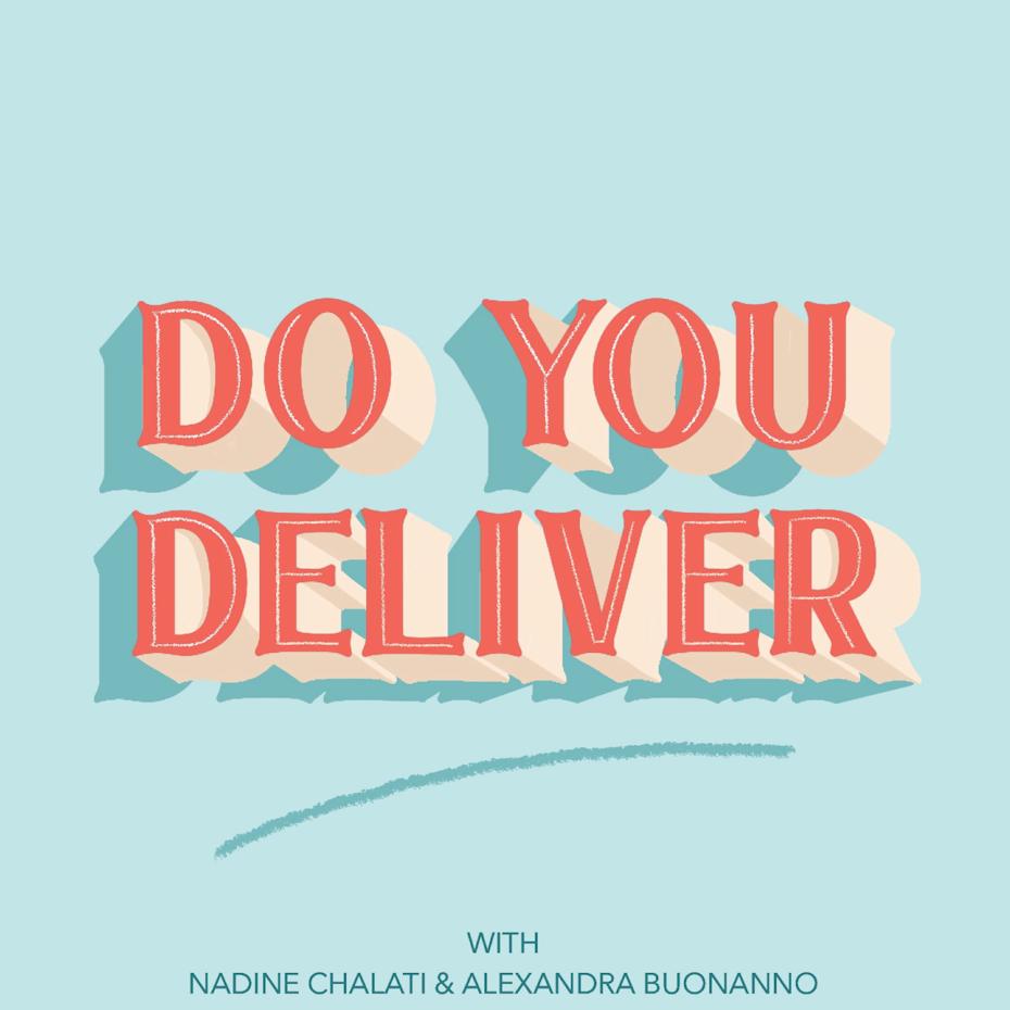 Hand-lettered podcast cover design