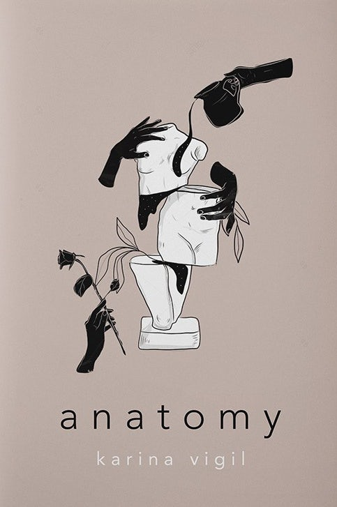 book cover trends example: gray book cover with black text and an illustrated image of a distorted sculpture