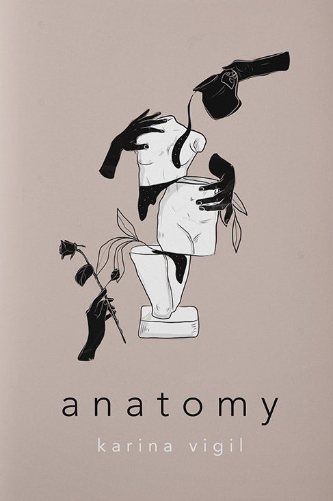 gray book cover with black text and an illustrated image of a distorted sculpture