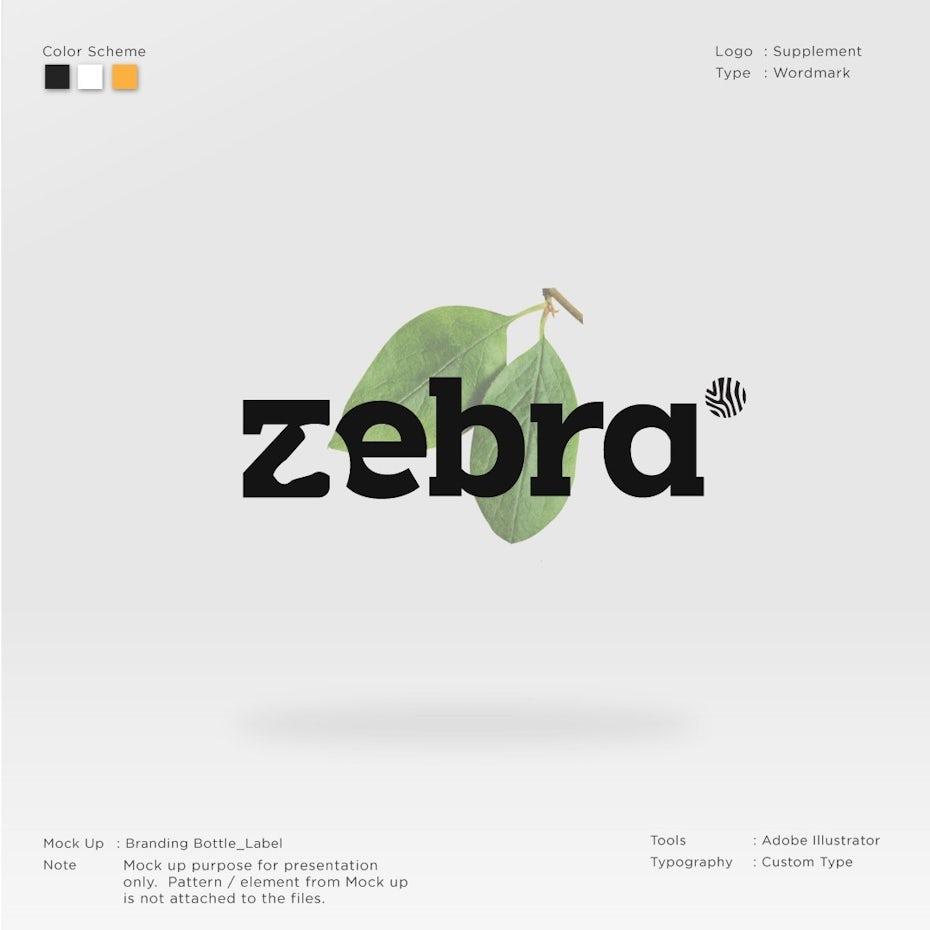 Modern thick serif wordmark logo design