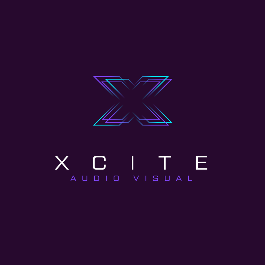logo design trends example: Glitch style vibrating logo design for audio brand