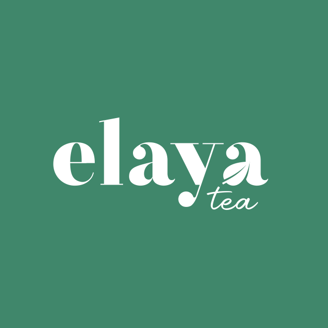 logo design trends example: Hand-lettering logo design for tea brand