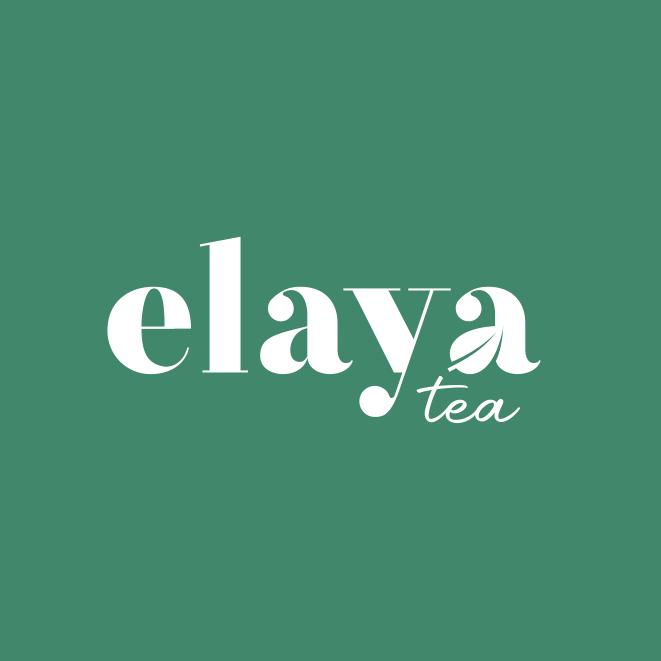 logo design trends example: Hand-lettering logo design for tea brand