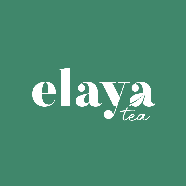 Hand-lettering logo design for tea brand