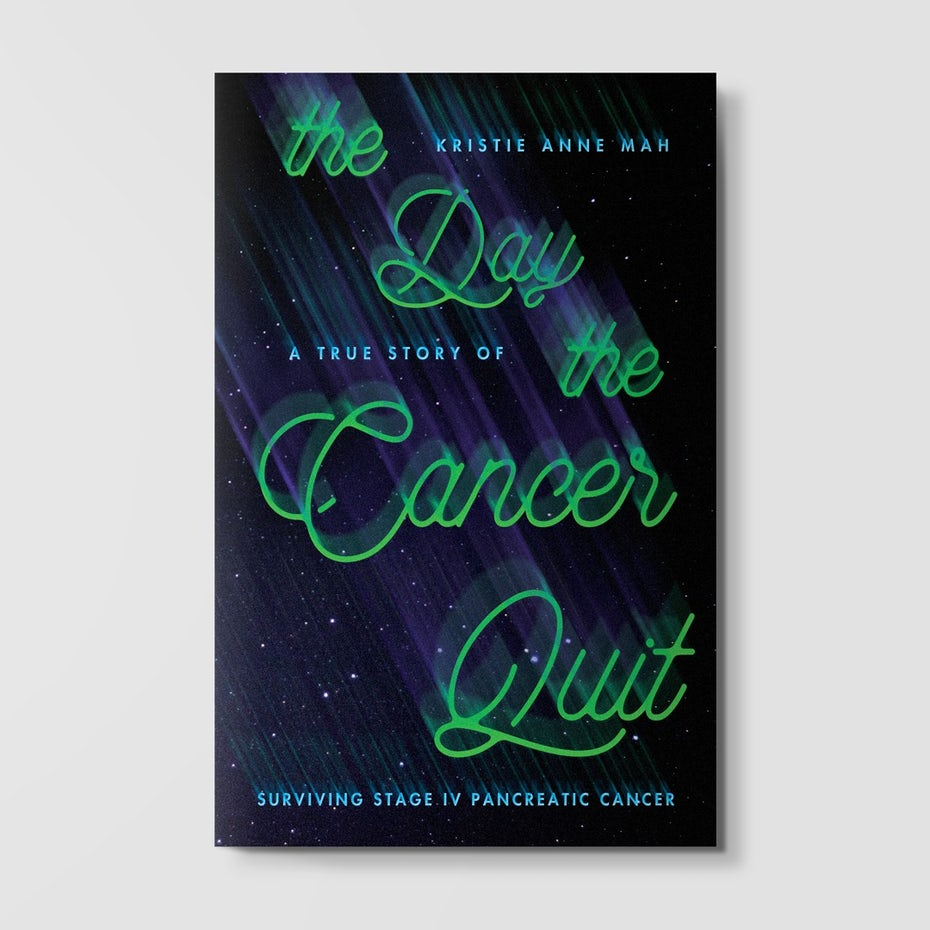 Book cover with motion blur typography