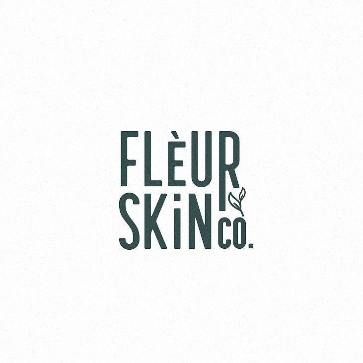 Logo wordmark design for skin care brand