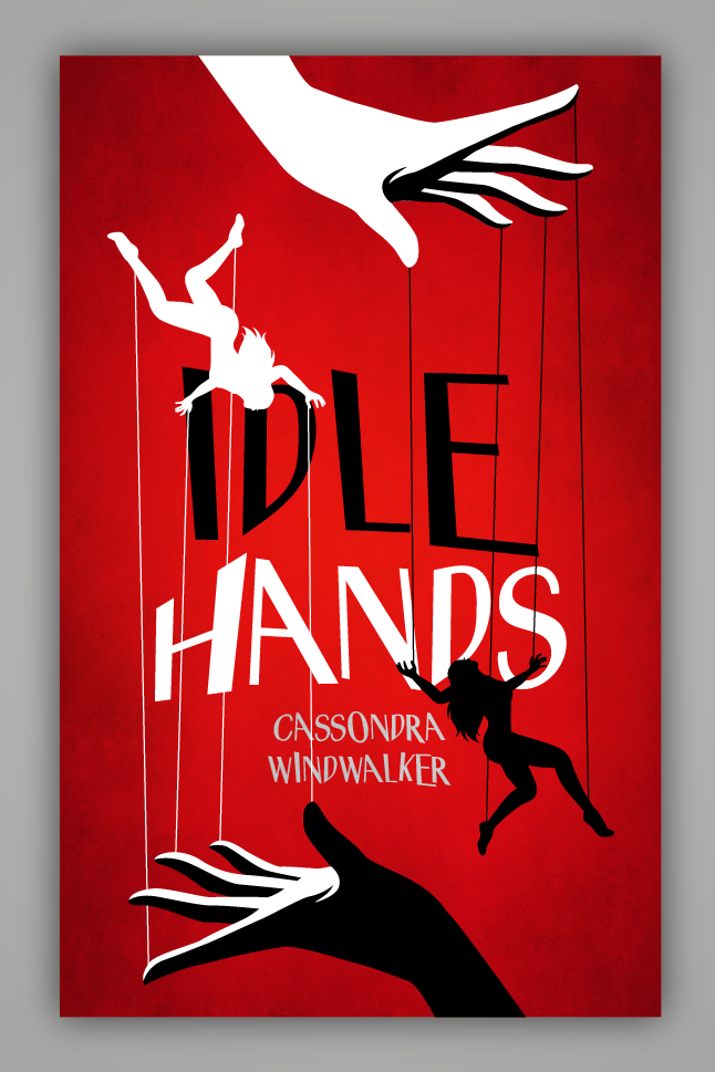 Red and black hand-lettered book cover with uneven typography