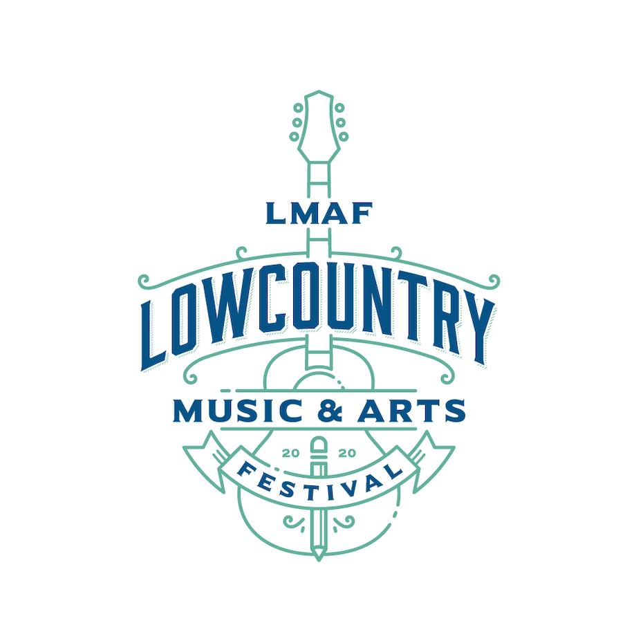logo design trends example: Symmetrical monoline logo design for music festival