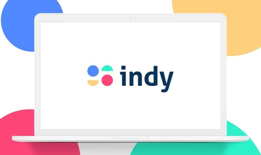 La géométrie est une des tendances en design de logo de 2021 comme le montre ce logo constitué de cercles et demi-cercles colorés