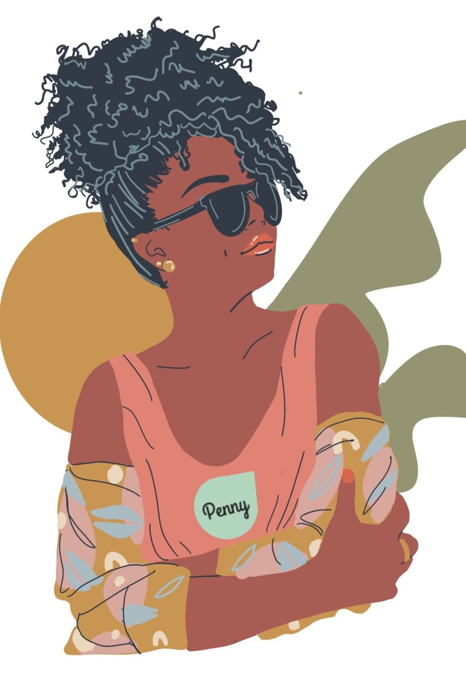 Illustration of a millennial girl