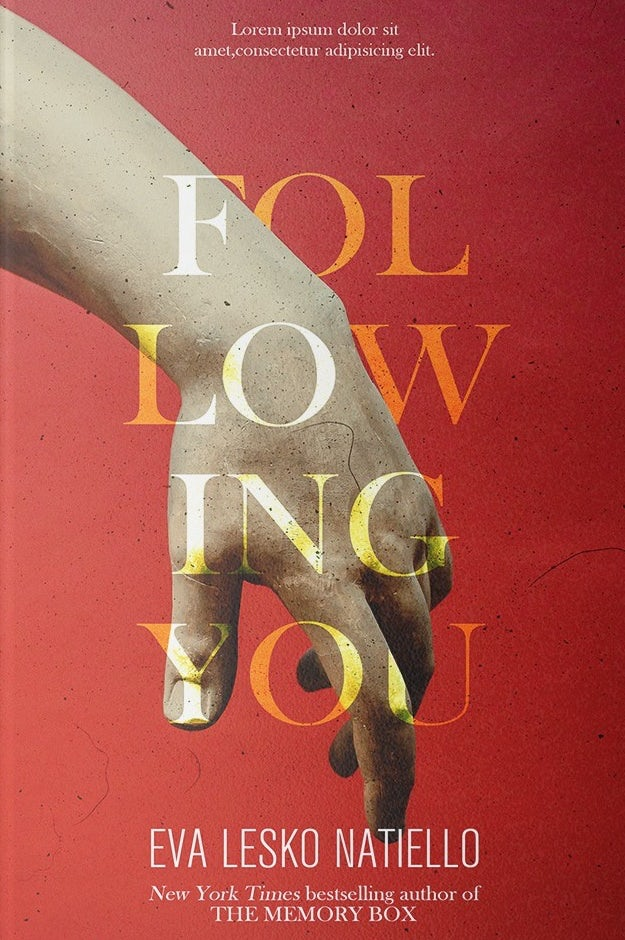 red book cover with yellow text and an image of a hand