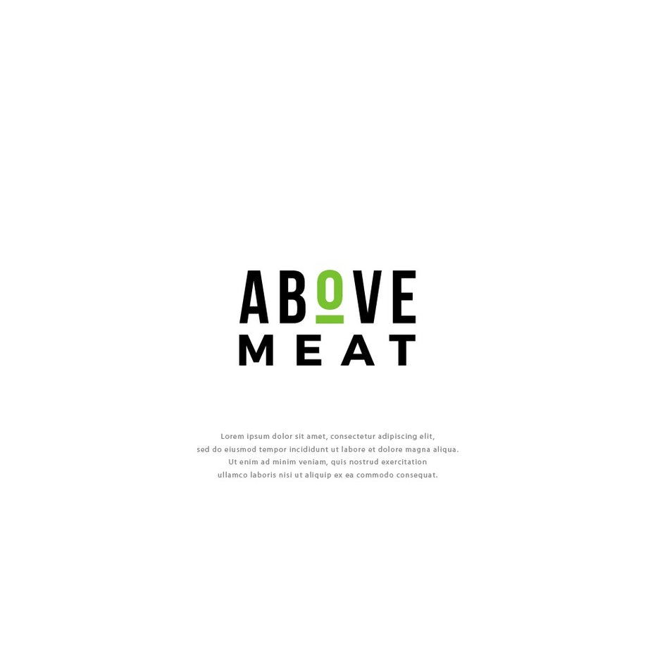 Logo wordmark design for organic vegetarian brand