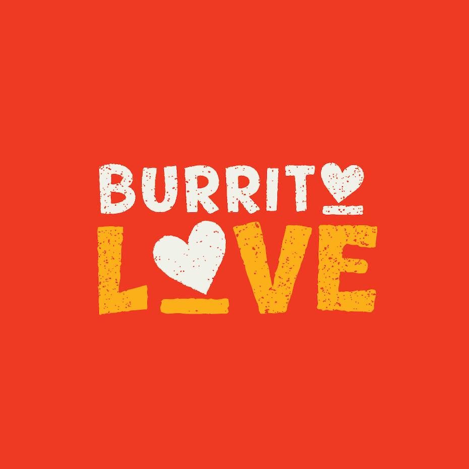 Hand-lettered wordmark logo design for Mexican food brand