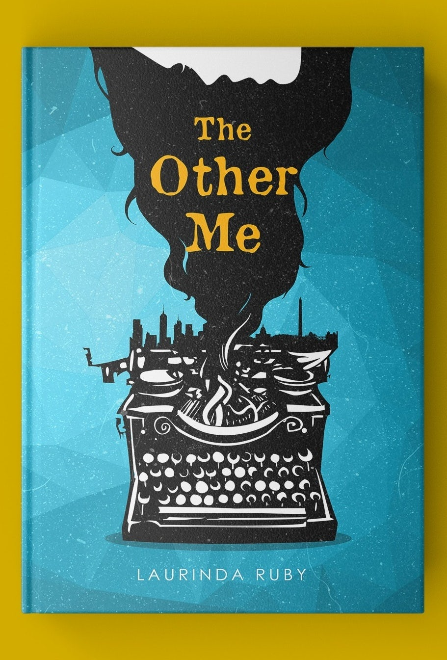 Surreal illustrated book cover design