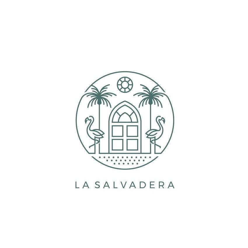 logo design trends example: Monoline symmetrical logo design for hotel