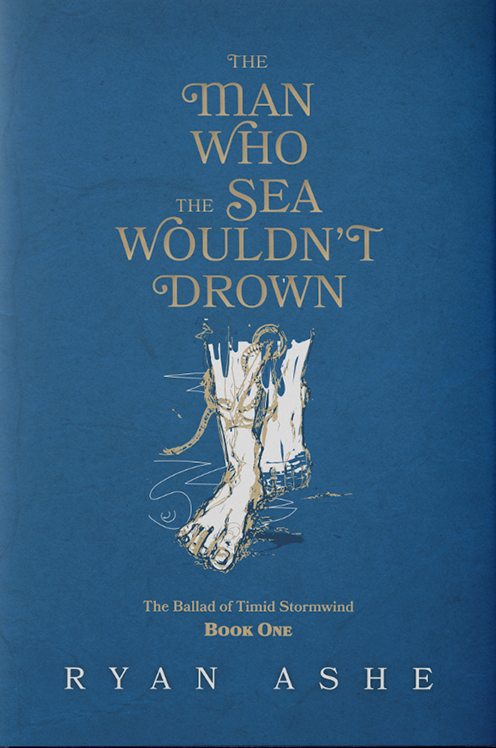book cover trends example: blue book cover with an image of a foot underwater