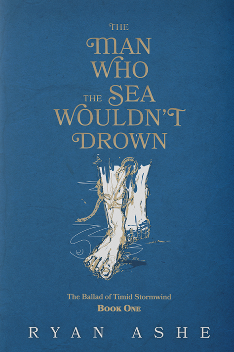blue book cover with an image of a foot underwater