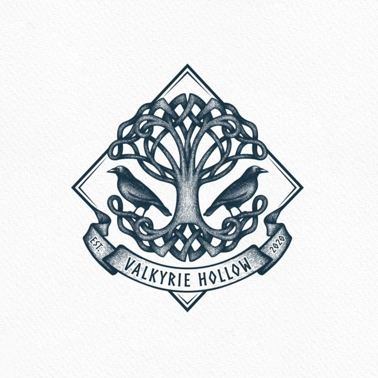 logo design trends example: Celtic tree of life logo design illustration
