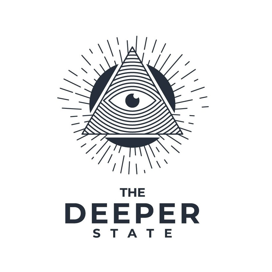 Apparel clothing brand logo with all-seeing-eye symbol