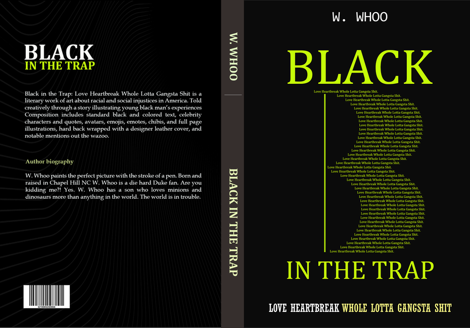 book cover trends example: black book cover with yellow text that looks like code