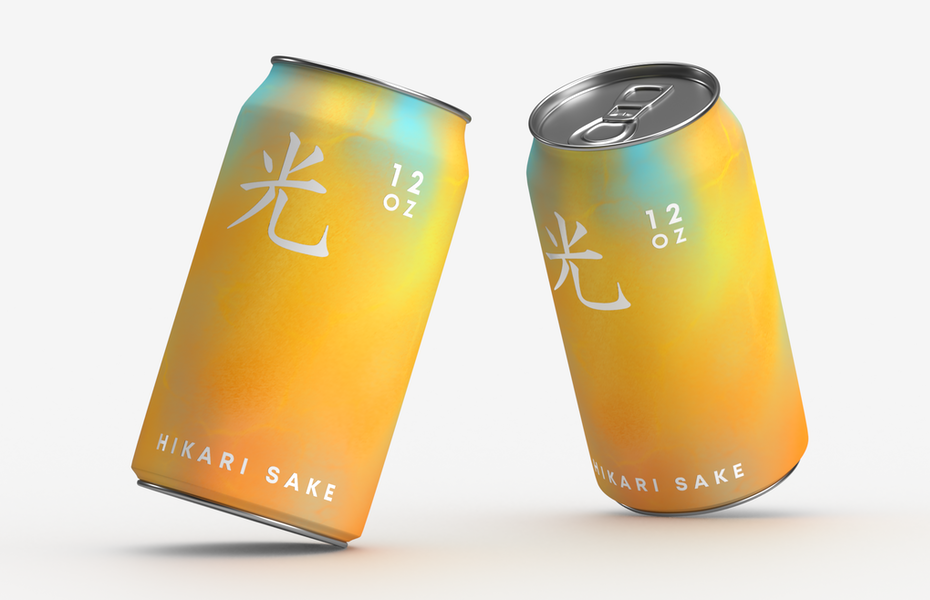 expressionist color brand design for sake can packaging