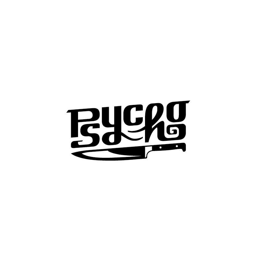 Hand-lettered logo design with sharp angles
