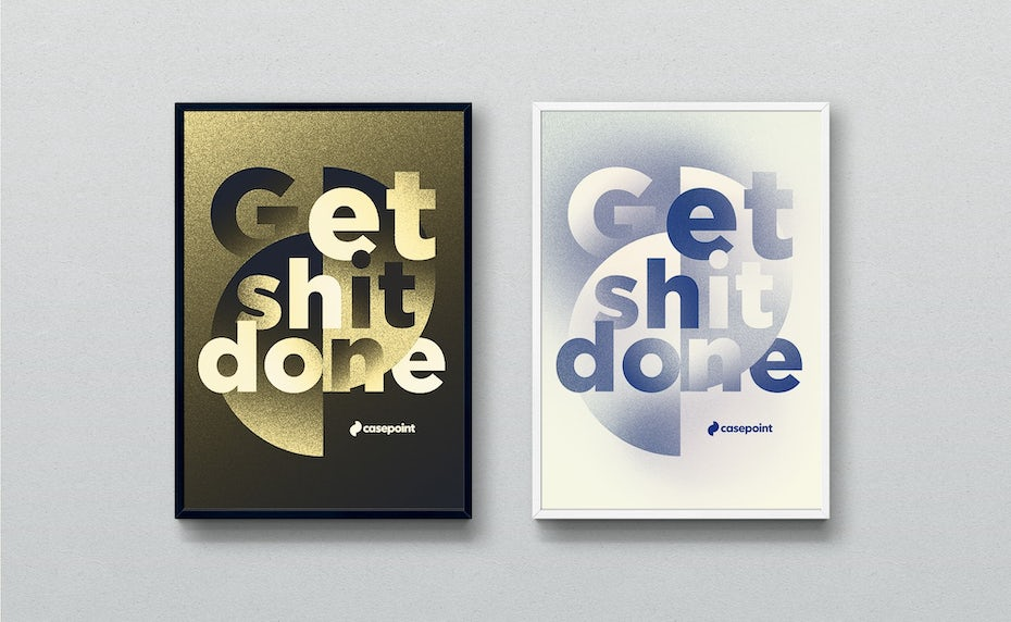 motivational poster design with grainy blur effect