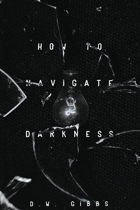 black book cover with an image of a light bulb, glass and white text